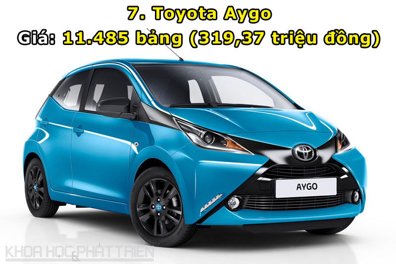 7. Toyota Aygo.