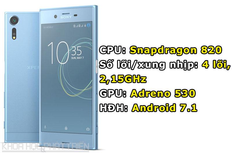 Sony Xperia XZs sử dụng chất liệu Alkaleido, loại nhôm có khả năng chịu va chạm tốt.
