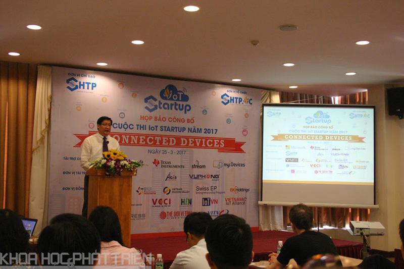 Ông Lê Hoài Quốc - Trưởng ban SHTP phát biểu công bố Cuộc thi