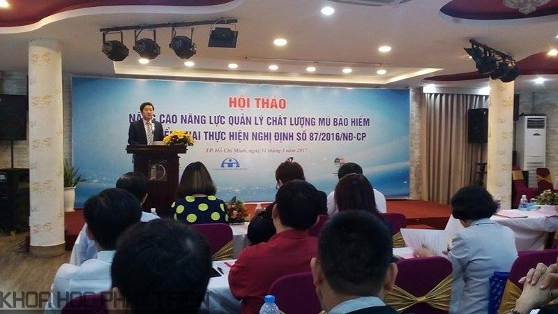 ông Nguyễn Hoài Linh - Phó Tổng cục trưởng Tổng cục TC-ĐL-CL phát biểu tại hội thảo