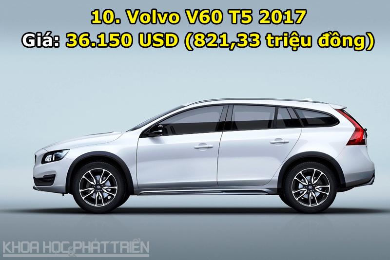 10. Volvo V60 T5 2017.