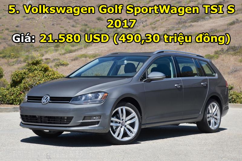 5. Volkswagen Golf SportWagen TSI S 2017.