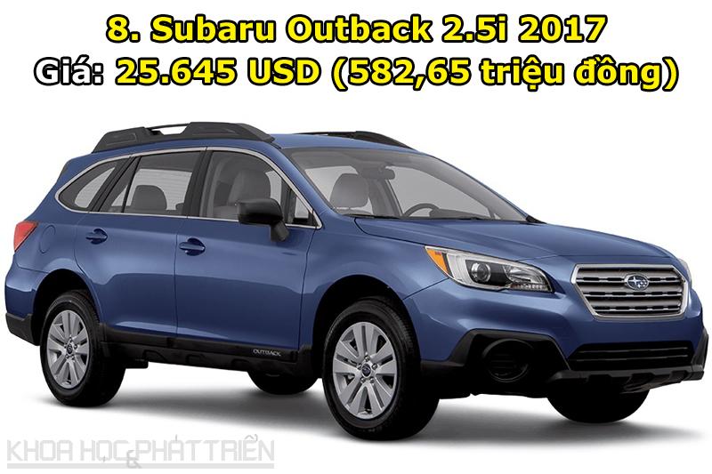 8. Subaru Outback 2.5i 2017.