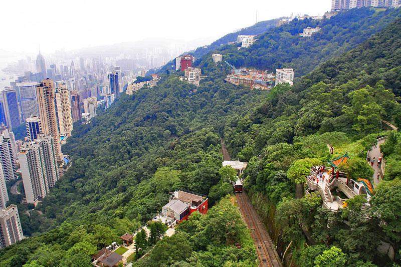 2. Núi Thái Bình. Đây là ngọn núi cao nhất của đảo Hồng Kông (552m). Ngọn núi này nằm ở nửa phía Đông của đảo Hồng Kông. Từ đỉnh núi này có thể ngắm nhìn trung tâm Hồng Kông, bến cảng và các đảo chung quanh. Núi Thái Bình là một địa điểm thu hút khách tham quan của Hồng Kông.