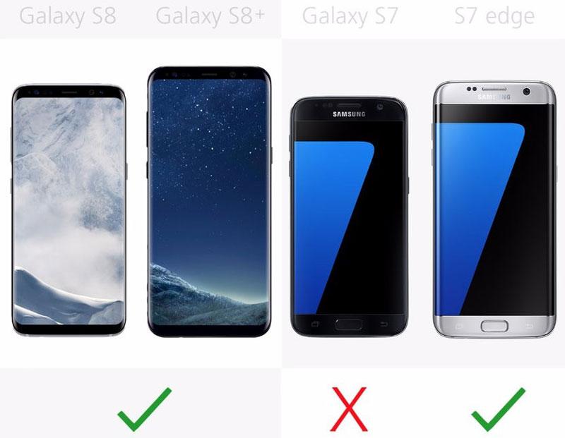 Galaxy S7 không có màn hình cong như 3 mày còn lại.