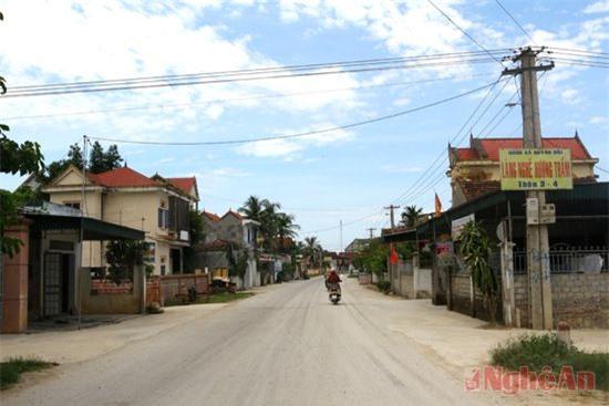 Một góc nông thôn mới Quỳnh Đôi - quê hương nhà cách mạng Hồ Tùng Mậu