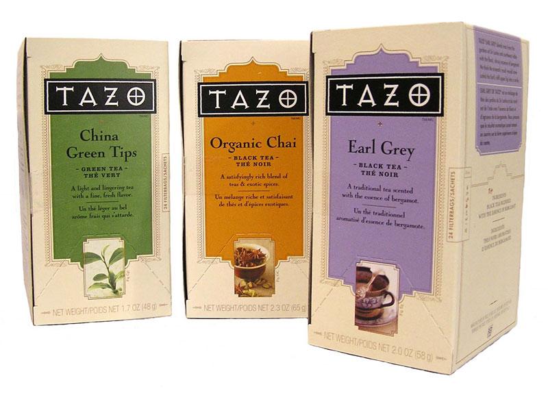 3. Tazo. Là nhà sản xuất và phân phối trà và trà thảo dược được thành lập tại Mỹ năm 1994 bởi Steven Smith. Năm 1999, Starbucks đã mua lại thương hiệu này.