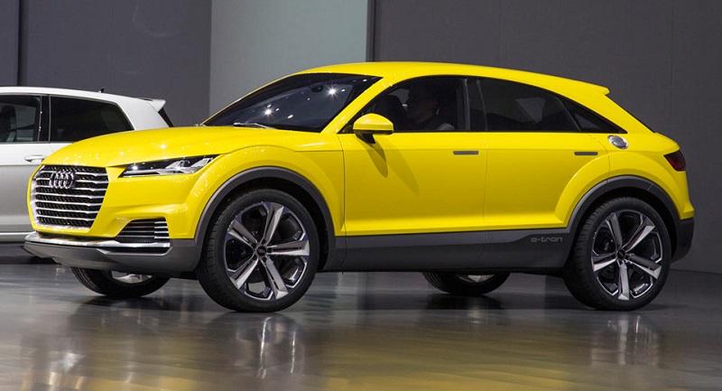 Chiếc Audi TT Offoroad Concept, tiền thân của Audi Q4, đã ra mắt cách đây vài năm.