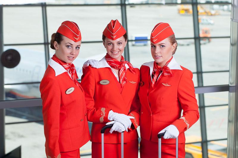 3. Aeroflot Air. Hãng hàng không có trụ sở tại Moskva, Nga. Hãng nổi tiếng bởi những tiếp viên hấp dẫn, trang phục thanh lịch cùng phong cách phục vụ nhiệt tình.