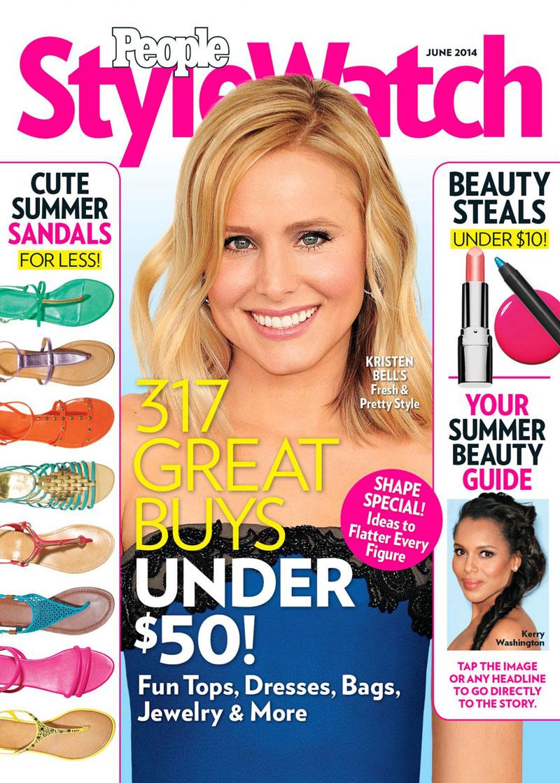 8. People Stylewatch. Năm 2002, tạp chí People (Mỹ) cho ra thêm tờ People Stylewatch chuyên khai thác phong cách thời trang và sắc đẹp của những người nổi tiếng. Mặc dù mới lên kệ không lâu, nhưng tờ tạp chí này nhanh chóng khẳng định được vị thế ở làng báo thế giới.