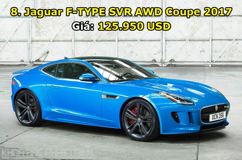 8. Jaguar F-TYPE SVR AWD Coupe 2017.
