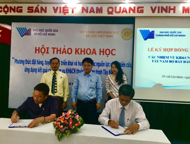 Chương trình TNB và BUSACO ký kết thực hiện nhiệm vụ KHCN thuộc Chương trình TNB