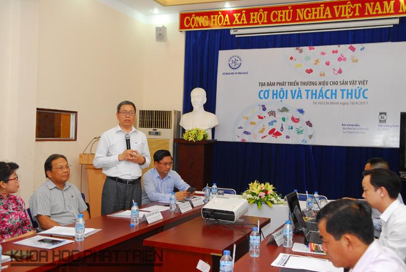 Ông Lê Ngọc Lâm - Phó Cục trưởng Cục SHTT phát biểu khai mạc Tọa đàm