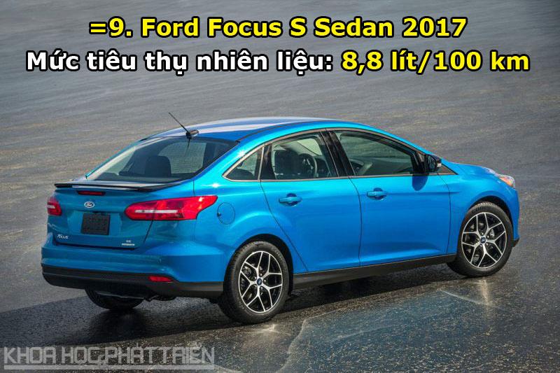 =9. Ford Focus S Sedan 2017.