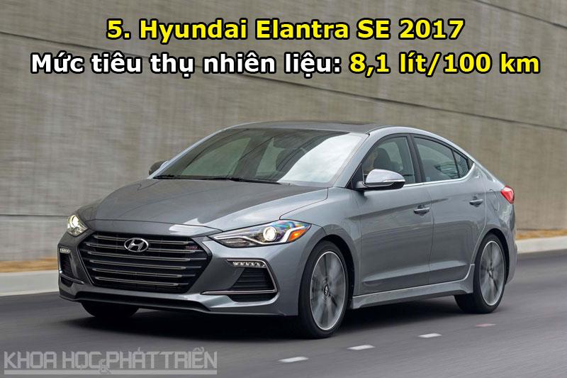 5. Hyundai Elantra SE 2017.