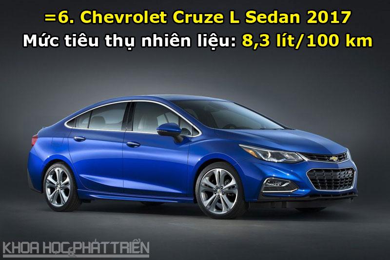 =6. Chevrolet Cruze L Sedan 2017.