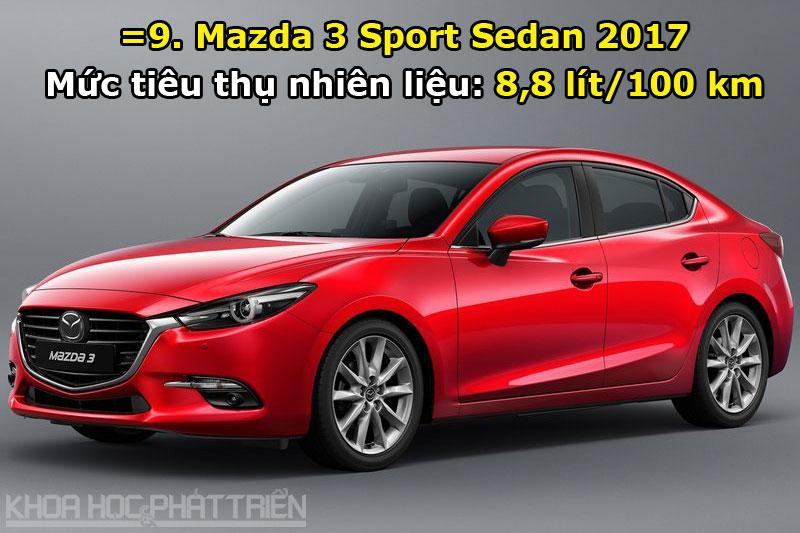 =9. Mazda 3 Sport Sedan 2017.
