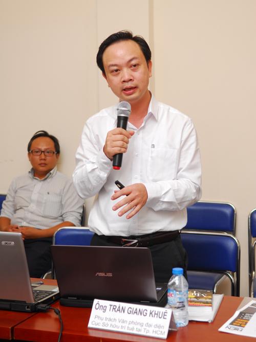 Ông Trần Giang Khuê - Phụ trách Văn phòng phía Nam, Cục Sở hữu trí tuệ. Ảnh: Mạnh Linh