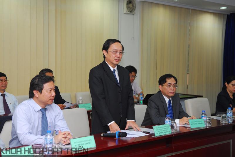 Ông Huỳnh Thành Đạt - Giám đốc ĐHQG TP.HCM     Ảnh: MT