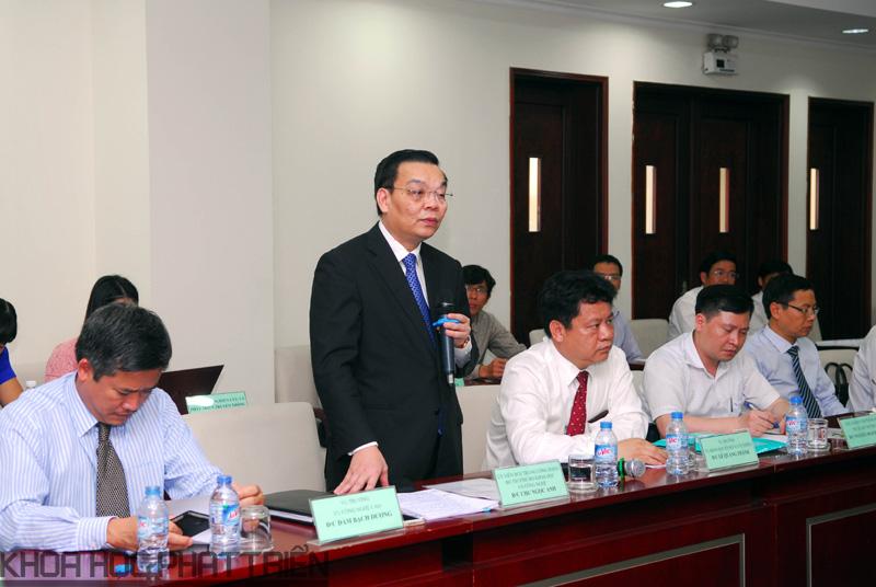 Bộ trưởng Chu Ngọc Anh phát biểu tại Lễ ký kết   Ảnh: MT