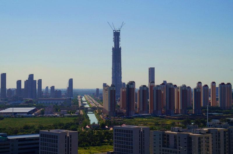 6. Goldin Finance 117 (117 tầng). Tòa nhà chọc trời ở Thiên Tân, Trung Quốc. Việc xây dựng bắt đầu vào năm 2008 và tòa nhà được dự kiến hoàn thành vào năm 2018.