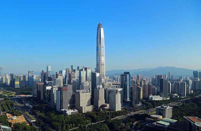 7. Ping An Finance Center (115 tầng). Là tòa nhà chọc trời tọa lạc ở Thâm Quyến, Trung Quốc. Tòa nhà này được khánh thành vào năm 2016.