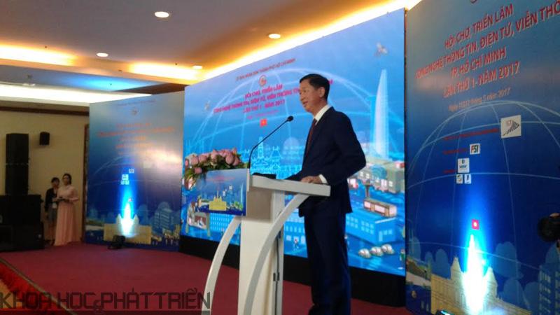 Ông Trương Vĩnh Tuyến - Phó Chủ tịch UBND TpHCM phát biểu khai mạc Triển lãm