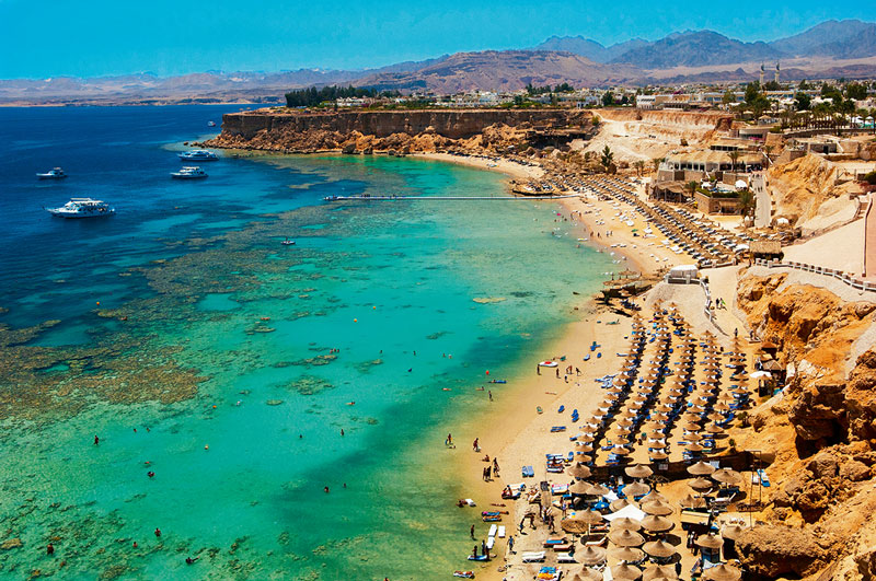 1. Sharm El Sheikh. Thành phố nằm ở mũi phía Nam của bán đảo Sinai, thuộc quần đảo Nam Sinai, Ai Cập. Hiện nay, thành phố là khu nghỉ mát và trung tâm du lịch quan trọng của Ai Cập.