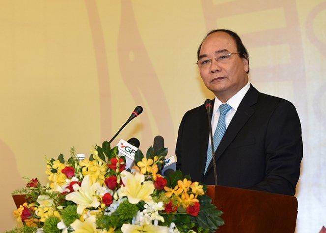 Thủ tướng Nguyễn Xuân Phúc phát biểu khai mạc tại hội nghị sáng 17/5.