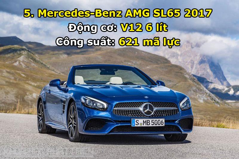 5. Mercedes-Benz AMG SL65 2017.