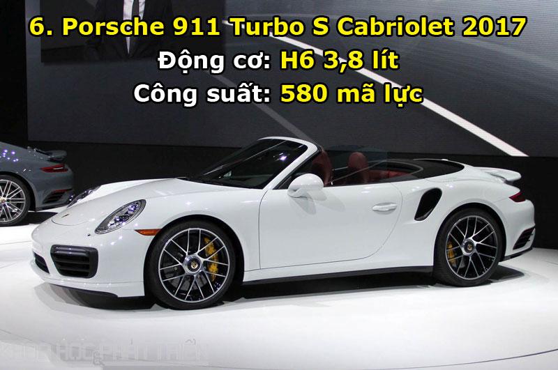6. Porsche 911 Turbo S Cabriolet 2017.