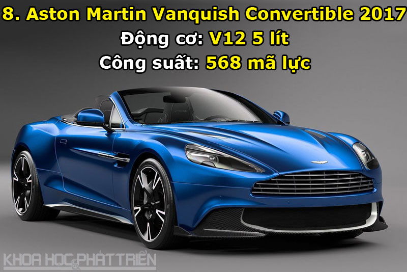 8. Aston Martin Vanquish Convertible 2017.