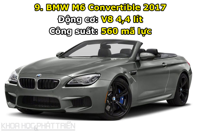 9. BMW M6 Convertible 2017.
