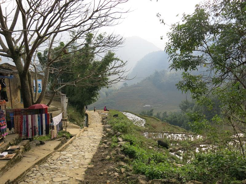 Bản Cát Cát (thôn Cát Cát) là làng dân tộc H'Mông nằm cách thị trấn Sa Pa (tỉnh Lào Cai, Việt Nam) 2 km. Ảnh: Minhthi.