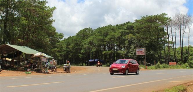 Ngã ba Nam Đàn - nơi dẫn vào những ngôi làng Nghệ An ở xã Chư Kpô, huyện Krông Búk, Đắk Lắk - Ảnh: THÁI TTHỊNH