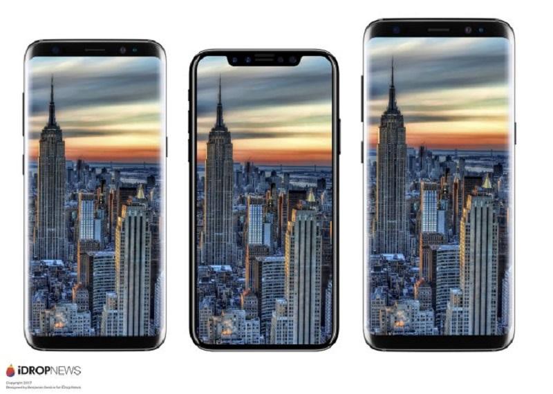 iPhone nằm giữa Galaxy S8 và S8 Plus
