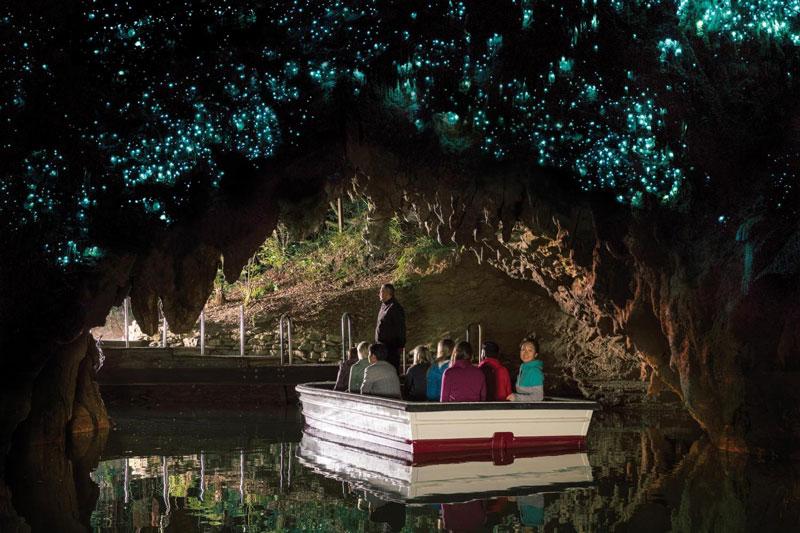 6. Hang Waitomo Glowworm. Hang động ở đảo Bắc của New Zealand. Nó là điểm đến nổi tiếng, thu hút nhiều khách du lịch đến tham quan bởi số lượng lớn các đom đóm sống trong các hang động.