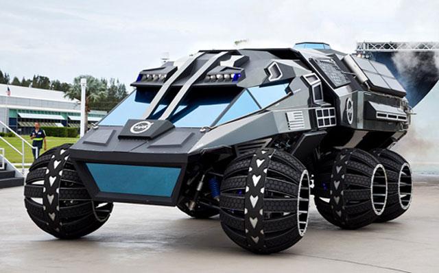 Siêu xe thám hiểm sao Hỏa của NASA. Mẫu xe ý tưởng dùng thám hiểm sao Hỏa nặng hơn 2,7 tấn, cao 3,3 m, 6 bánh và động cơ điện do kỹ sư NASA chế tạo. (CHI TIẾT)