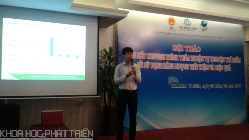 Các đại biểu chia sẻ tại kinh nghiệm tiết kiệm năng lượng tại hội thảo