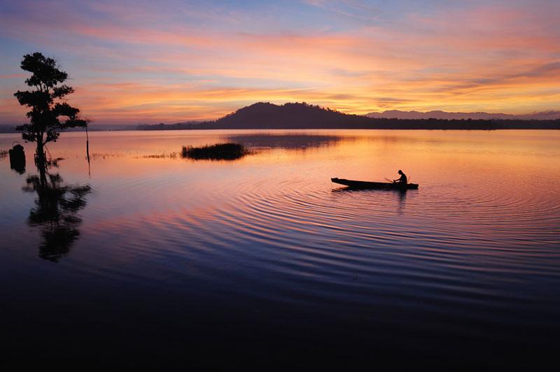 Ea Kao là hồ nước ngọt nhân tạo nằm ở địa phận củathành phố Buôn Ma Thuột, tỉnh Đăk Lăk. Ảnh: Kem Đá.