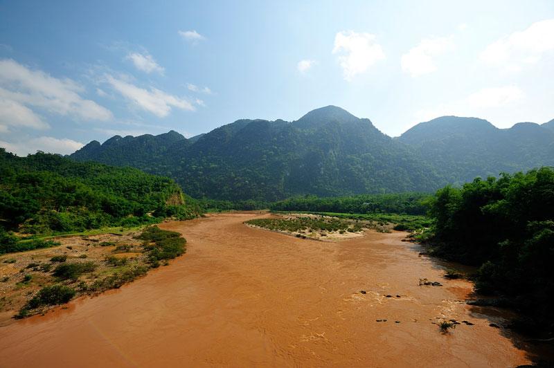Sông Mã có hai nguồn chính là từ tỉnh Điện Biên và từ Lào. Ảnh: Diem Dang Dung.