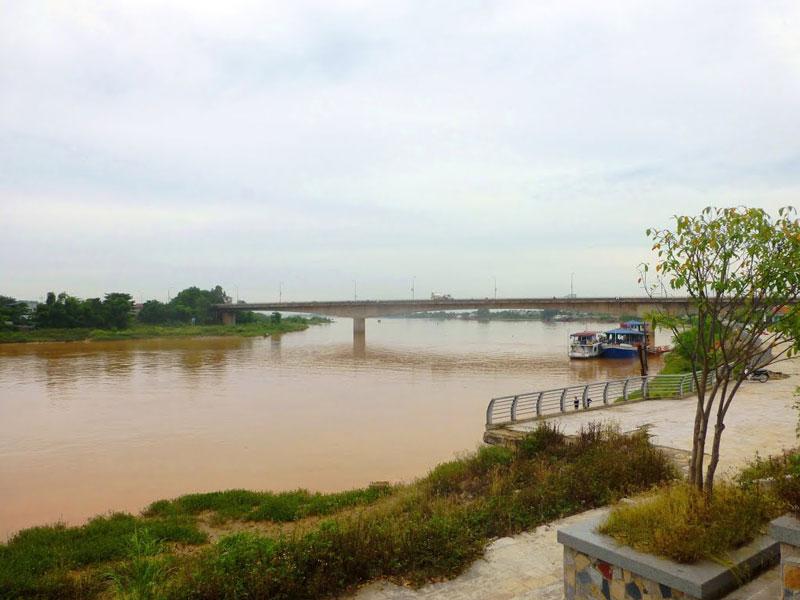 Sông Mã chủ yếu chảy giữa vùng rừng núi và trung du. Phù sa sông Mã là nguồn chủ yếu tạo nên đồng bằng Thanh Hóa lớn thứ ba ở Việt Nam. Ảnh: Quang Nguyen Tien.