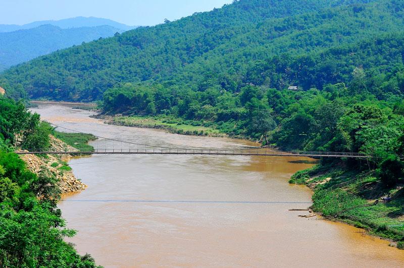 Hệ thống sông Mã gồm dòng chính là sông Mã và 2 phụ lưu lớn là sông Chu và sông Bưởi. Ảnh: Diem Dang Dung.