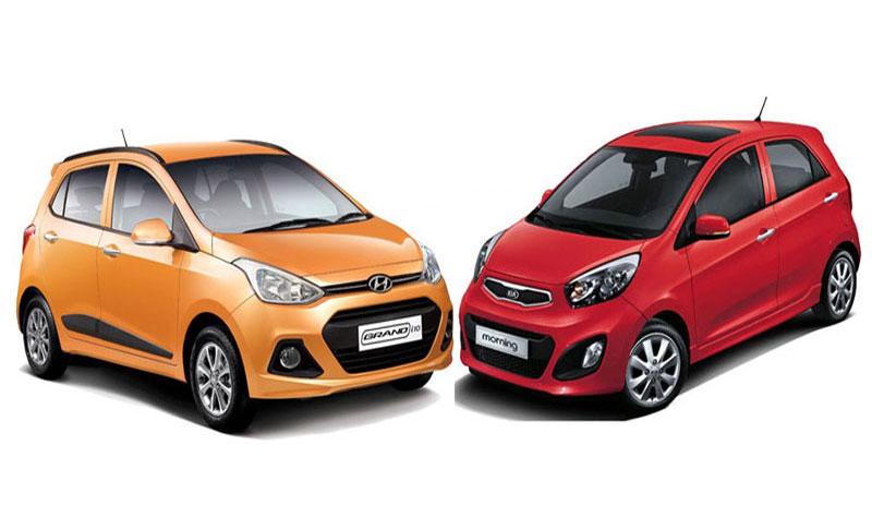 Hyundai Grand i10 và Kia Morning - cuộc chiến xe Hàn tại Việt Nam. Cả 2 mẫu xe ăn khách đều sản xuất trong nước, Morning có lợi thế về giá trong khi i10 được nhiều người chuộng nội thất rộng. (CHI TIẾT)