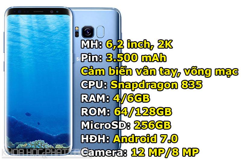 7. Samsung Galaxy S8 Plus (G9550) (170.361 điểm).