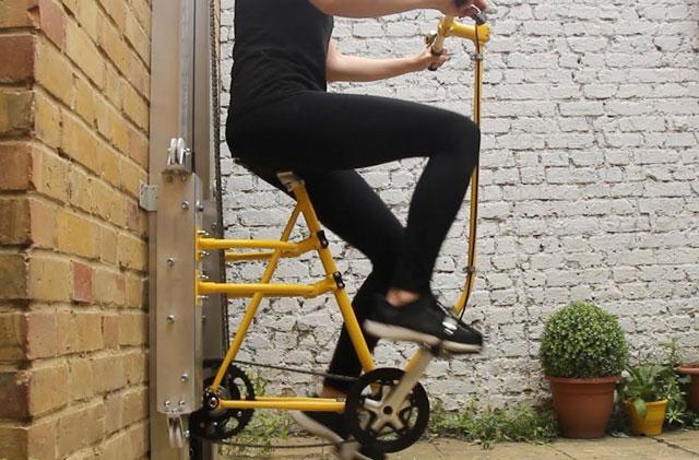 Dự án Vycle của Larriba cho phép người dùng đạp xe lên tòa nhà cao tầng.