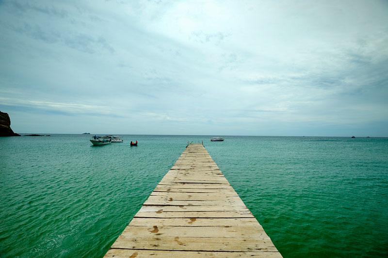 Bãi Kỳ Co nằm cách thành phố Quy Nhơn, Bình Định 25 km về phía Đông Bắc. Ảnh: Diem Dang Dung.