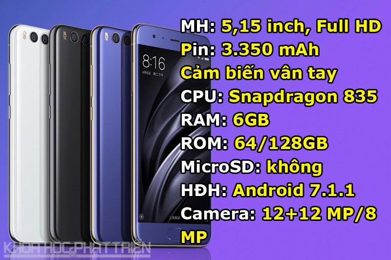 2. Xiaomi Mi 6.