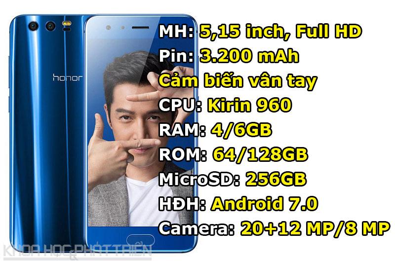 3. Huawei Honor 9.