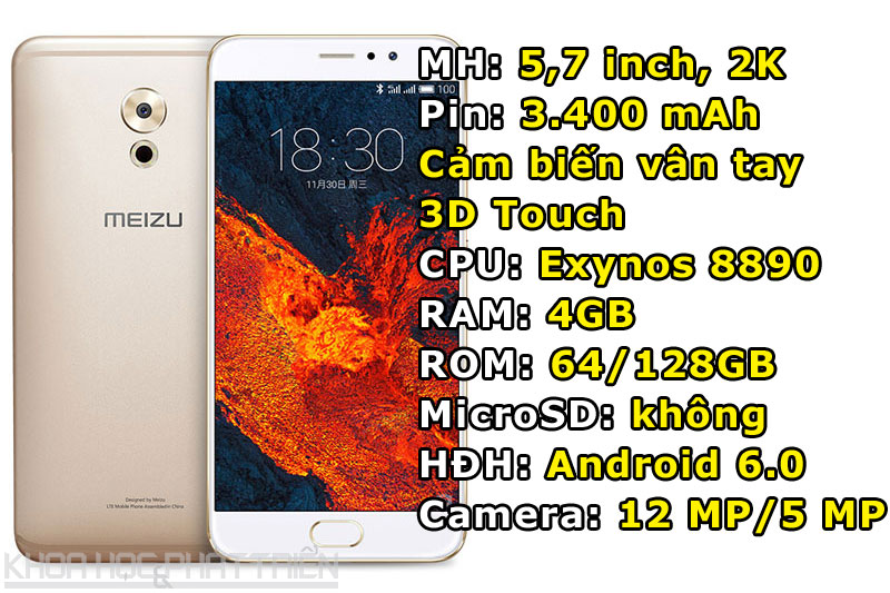 6. Meizu Pro 6 Plus.